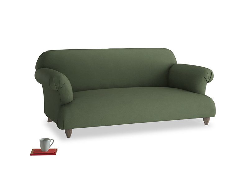 Medium Soufflé Sofa in Forest Green Clever Linen