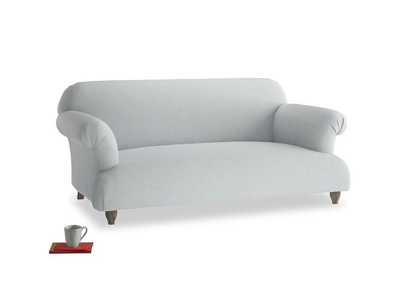 Medium Soufflé Sofa in Gull Grey Bamboo Softie