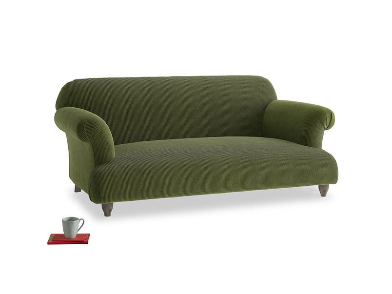 Medium Soufflé Sofa in Leafy Green Clever Cord