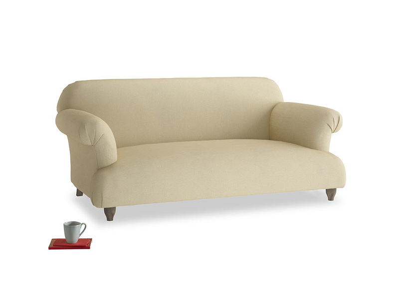 Medium Soufflé Sofa in Parchment Clever Linen