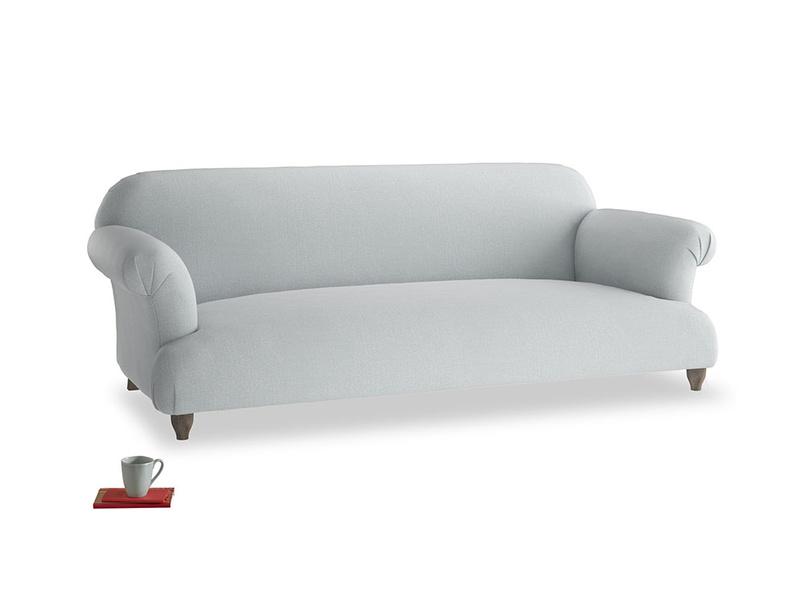 Large Soufflé Sofa in Gull Grey Bamboo Softie