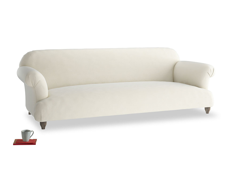 Extra large Soufflé Sofa in Alabaster Bamboo Softie