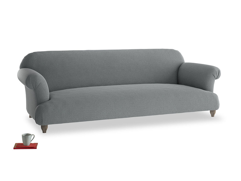 Extra large Soufflé Sofa in Cornish Grey Bamboo Softie
