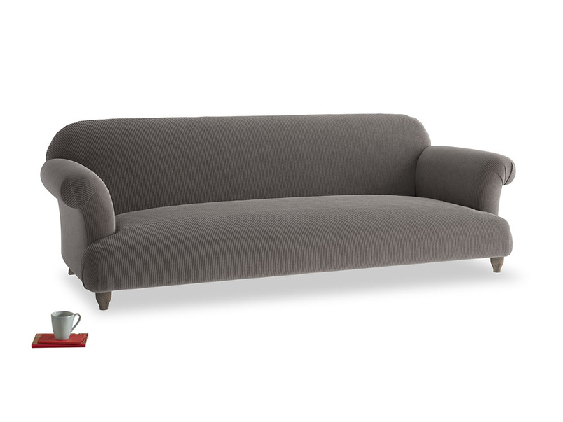 Extra large Soufflé Sofa in Everyday Grey Clever Cord