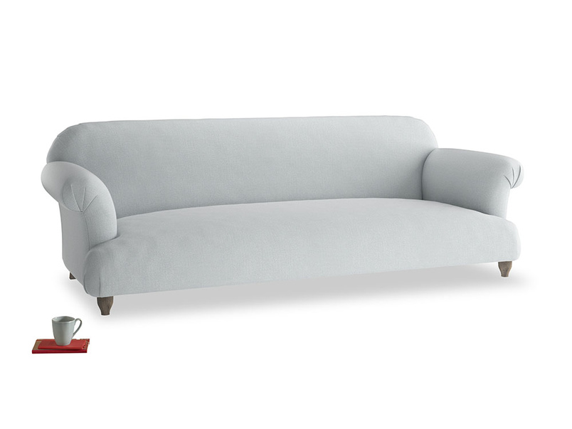 Extra large Soufflé Sofa in Gull Grey Bamboo Softie