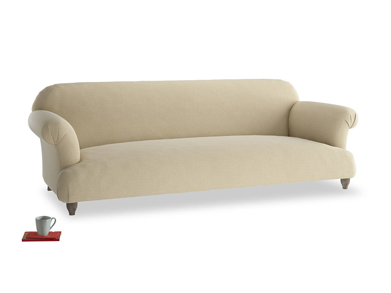 Extra large Soufflé Sofa in Hopsack Bamboo Softie