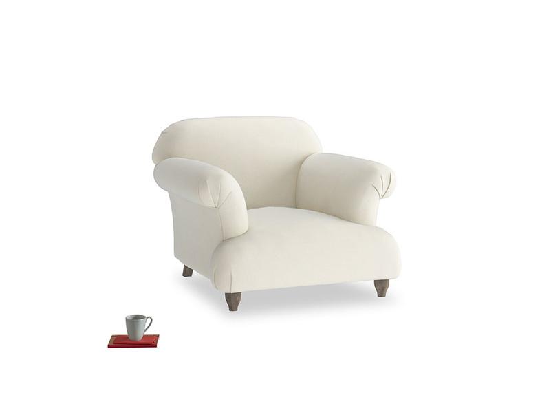 Soufflé Armchair in Alabaster Bamboo Softie