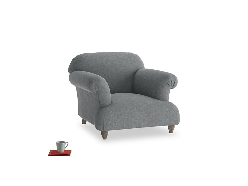 Soufflé Armchair in Cornish Grey Bamboo Softie