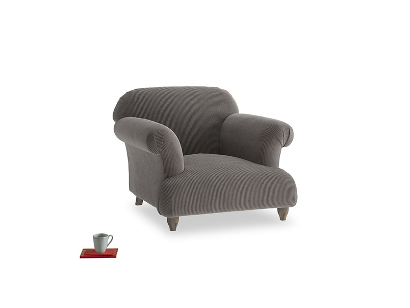 Soufflé Armchair in Everyday Grey Clever Cord