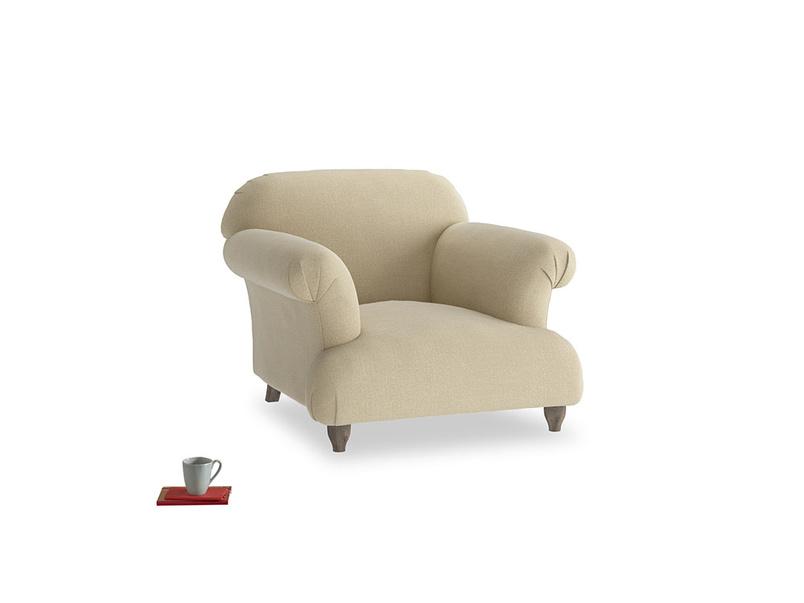 Soufflé Armchair in Hopsack Bamboo Softie