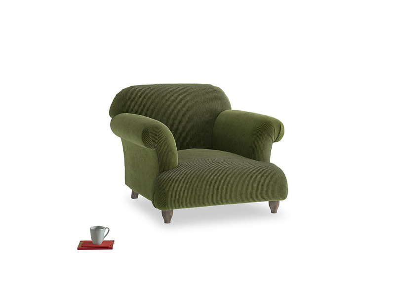 Soufflé Armchair in Leafy Green Clever Cord