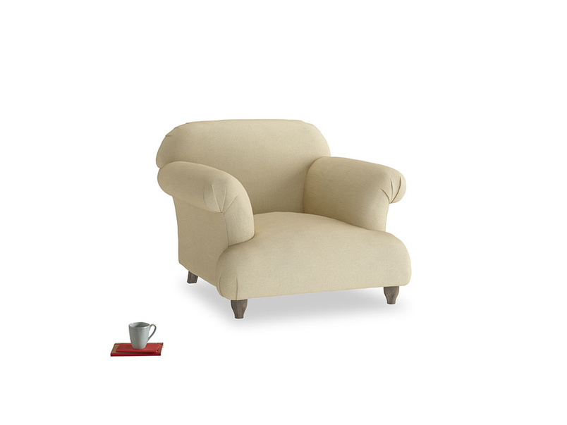 Soufflé Armchair in Parchment Clever Linen