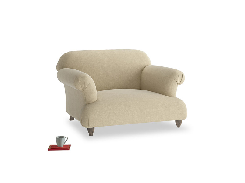 Soufflé Love seat in Hopsack Bamboo Softie