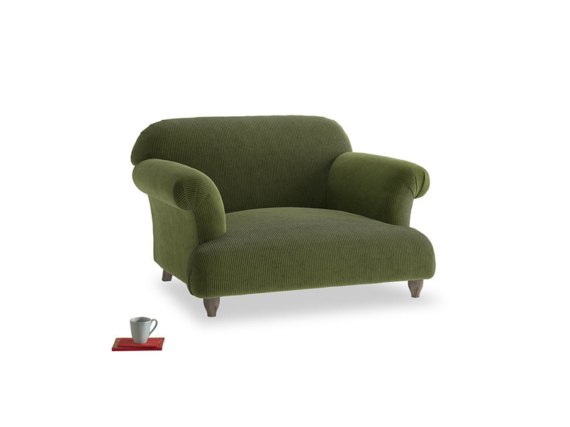 Soufflé Love seat in Leafy Green Clever Cord