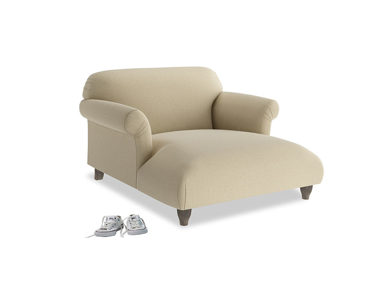 Soufflé Love Seat Chaise in Hopsack Bamboo Softie