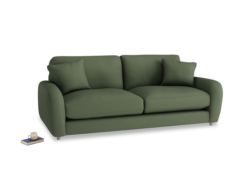 Medium Easy Squeeze Sofa Bed in Forest Green Clever Linen