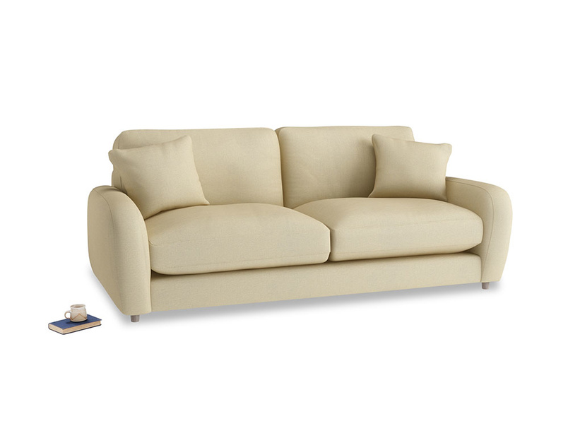Medium Easy Squeeze Sofa Bed in Parchment Clever Linen
