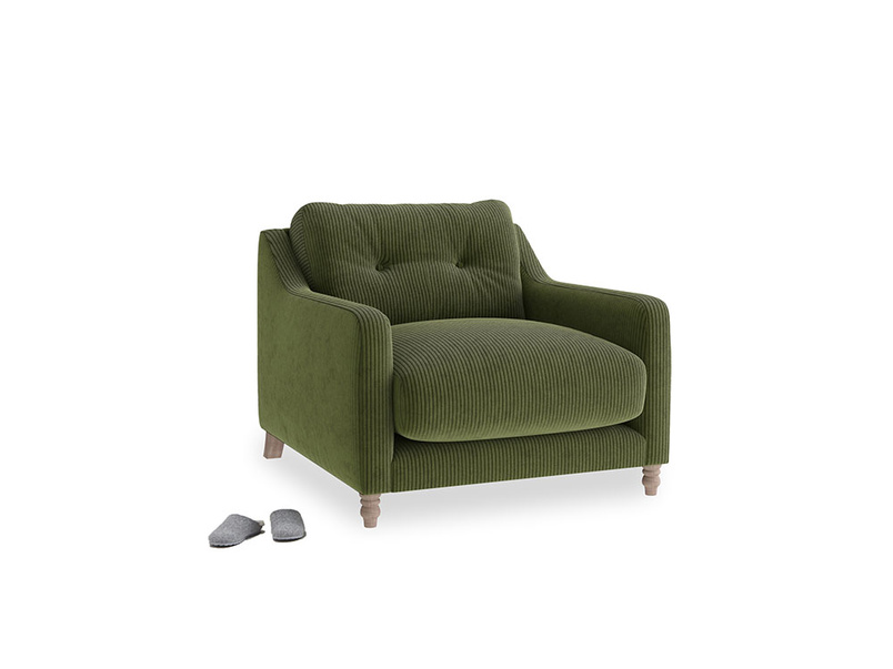 Slim Jim Armchair in Leafy Green Clever Cord