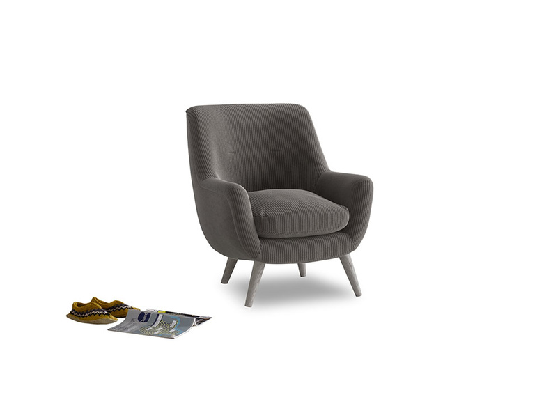 Berlin Armchair in Everyday Grey Clever Cord