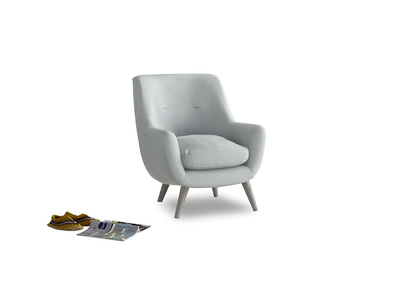 Berlin Armchair in Gull Grey Bamboo Softie