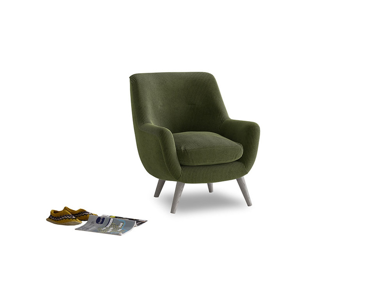 Berlin Armchair in Leafy Green Clever Cord