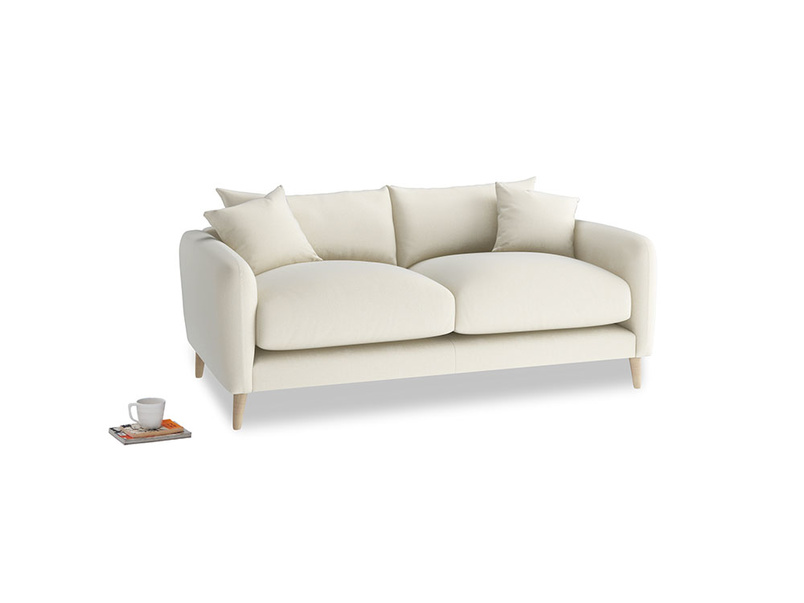 Small Squishmeister Sofa in Alabaster Bamboo Softie