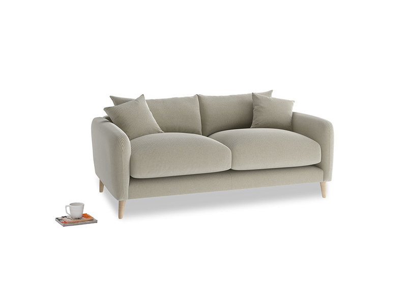 Small Squishmeister Sofa in Blighty Grey Clever Cord