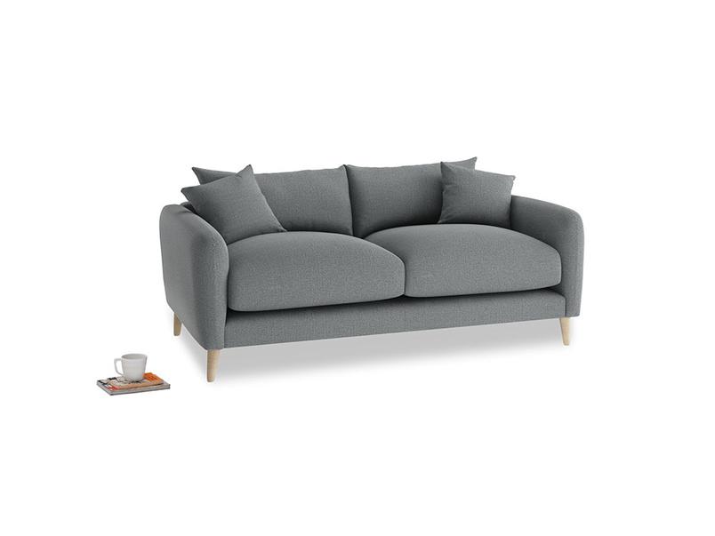 Small Squishmeister Sofa in Cornish Grey Bamboo Softie