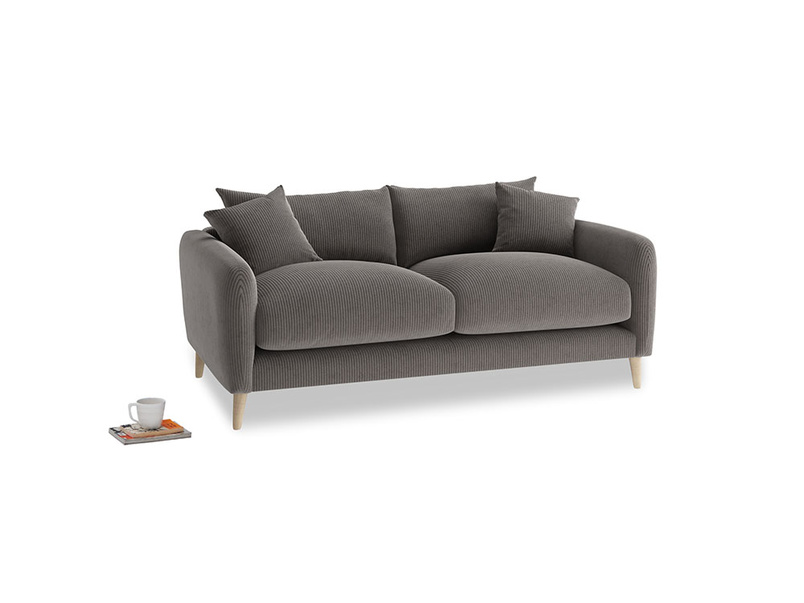 Small Squishmeister Sofa in Everyday Grey Clever Cord