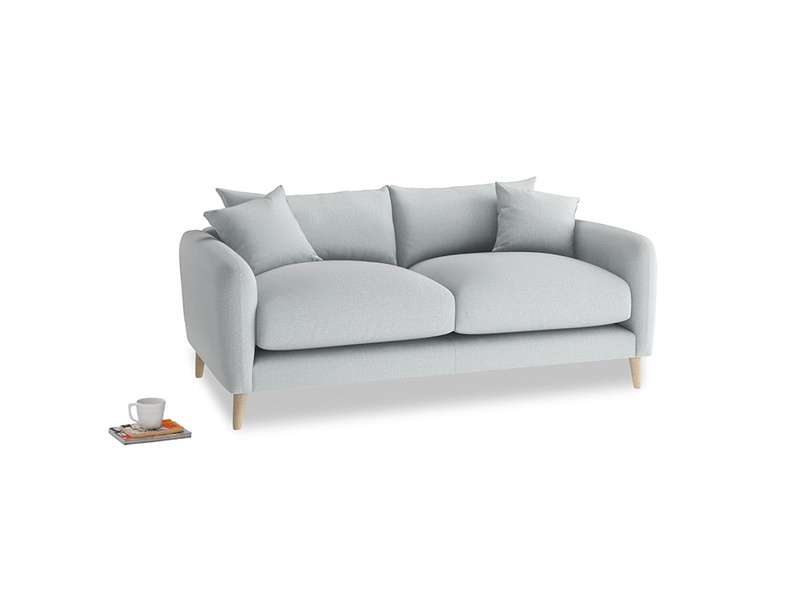 Small Squishmeister Sofa in Gull Grey Bamboo Softie