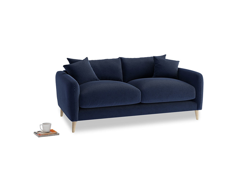 Small Squishmeister Sofa in Indian Blue Clever Cord