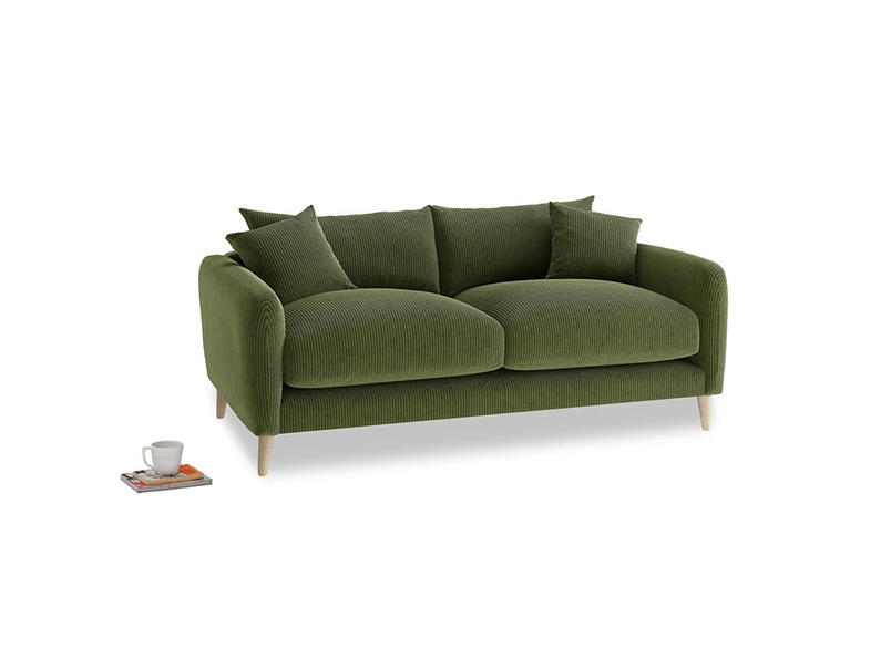 Small Squishmeister Sofa in Leafy Green Clever Cord