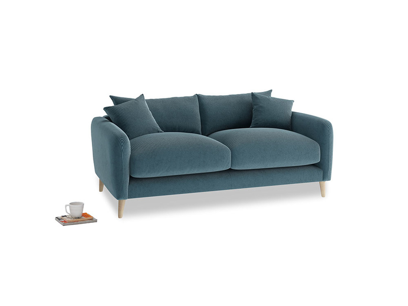 Small Squishmeister Sofa in Lovely Blue Clever Cord