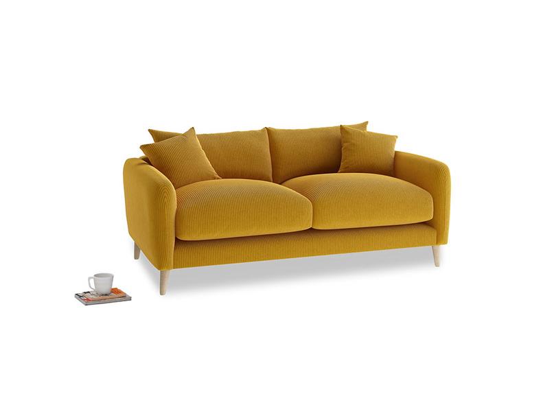 Small Squishmeister Sofa in Saffron Yellow Clever Cord