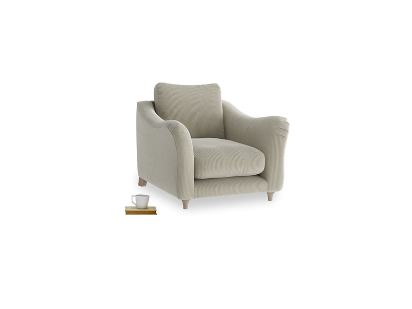 Bumpster Armchair in Blighty Grey Clever Cord