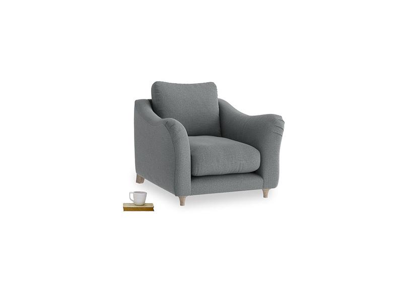 Bumpster Armchair in Cornish Grey Bamboo Softie