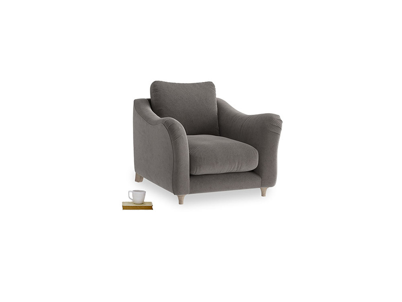 Bumpster Armchair in Everyday Grey Clever Cord