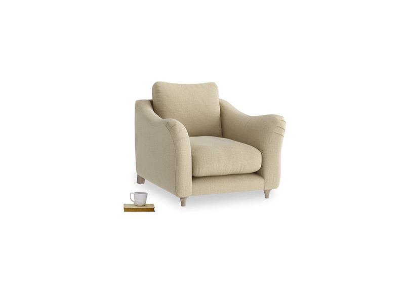 Bumpster Armchair in Hopsack Bamboo Softie