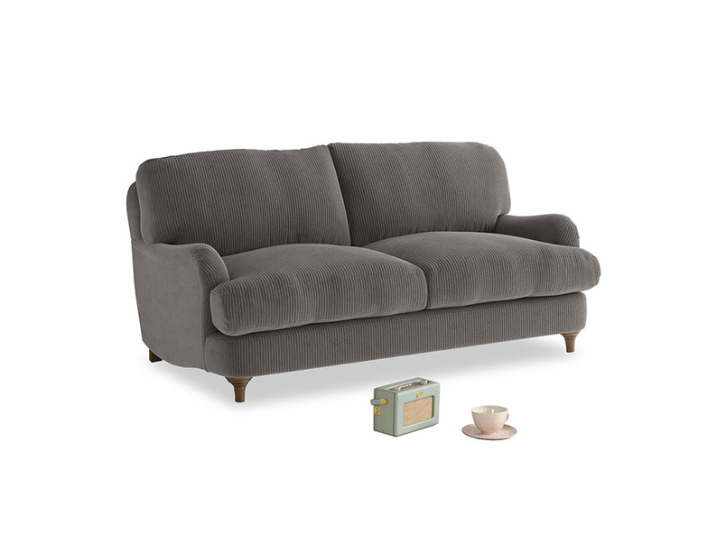 Small Jonesy Sofa in Everyday Grey Clever Cord