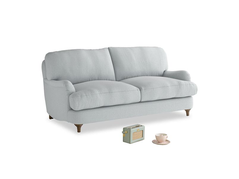 Small Jonesy Sofa in Gull Grey Bamboo Softie