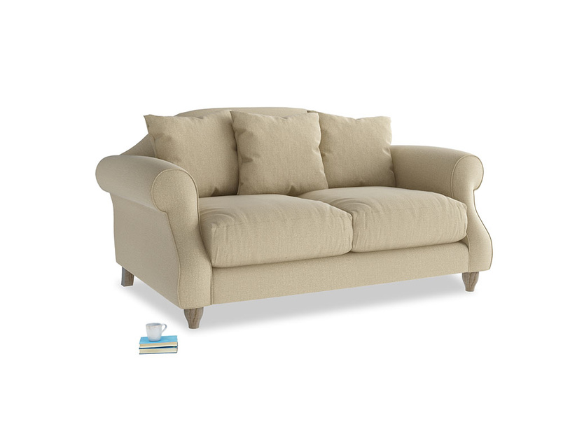 Small Sloucher Sofa in Hopsack Bamboo Softie