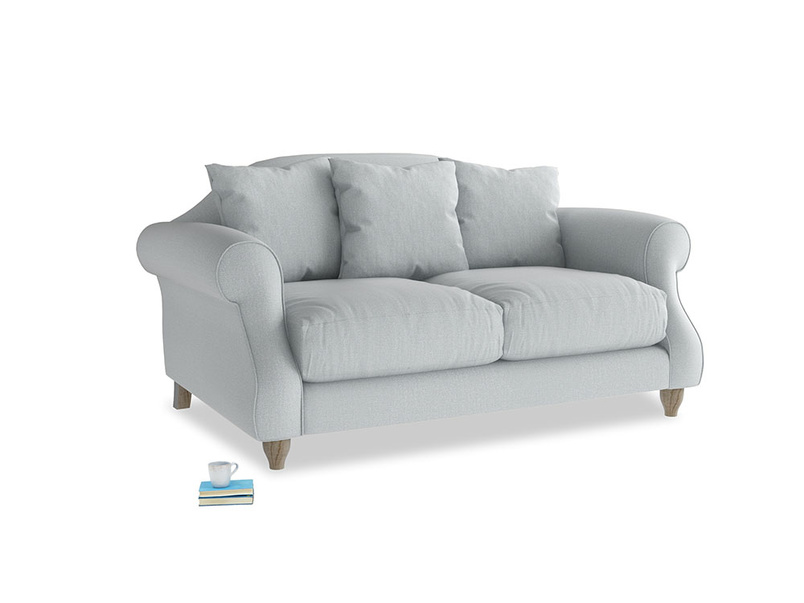 Small Sloucher Sofa in Gull Grey Bamboo Softie