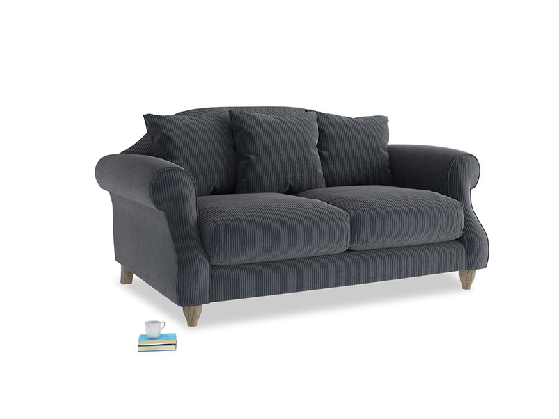 Small Sloucher Sofa in Scandi grey Clever Cord