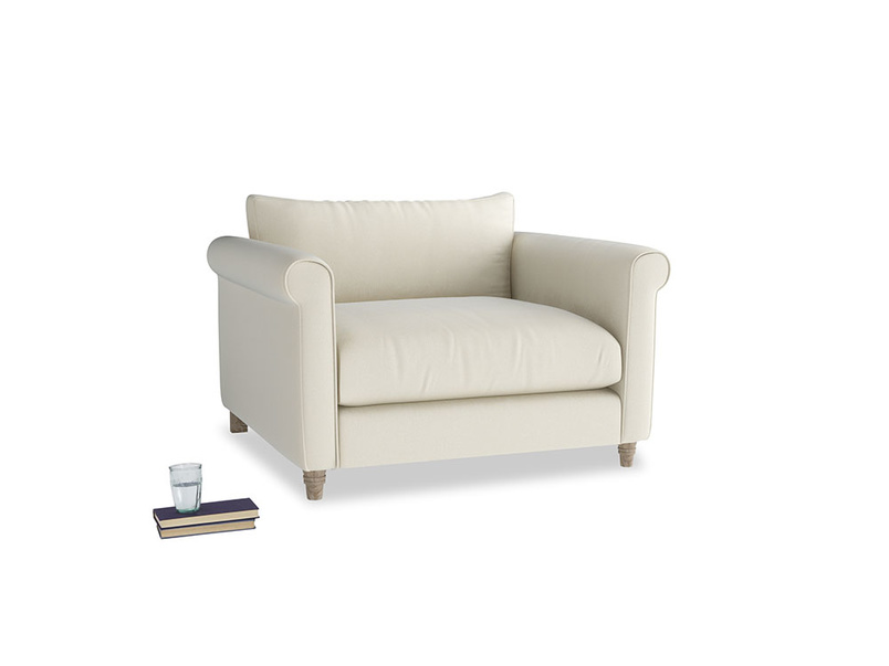 Weekender Love seat in Alabaster Bamboo Softie