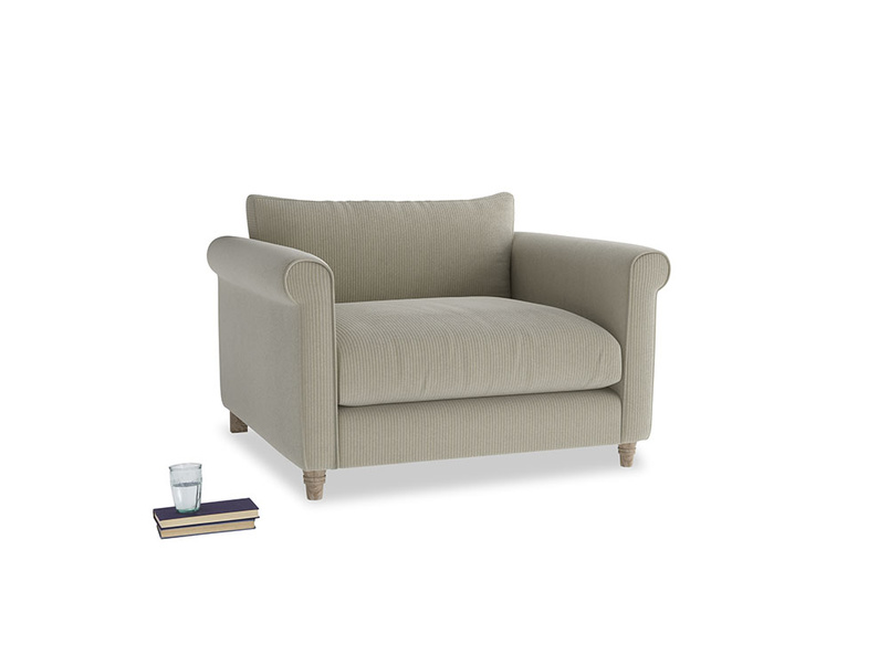 Weekender Love seat in Blighty Grey Clever Cord
