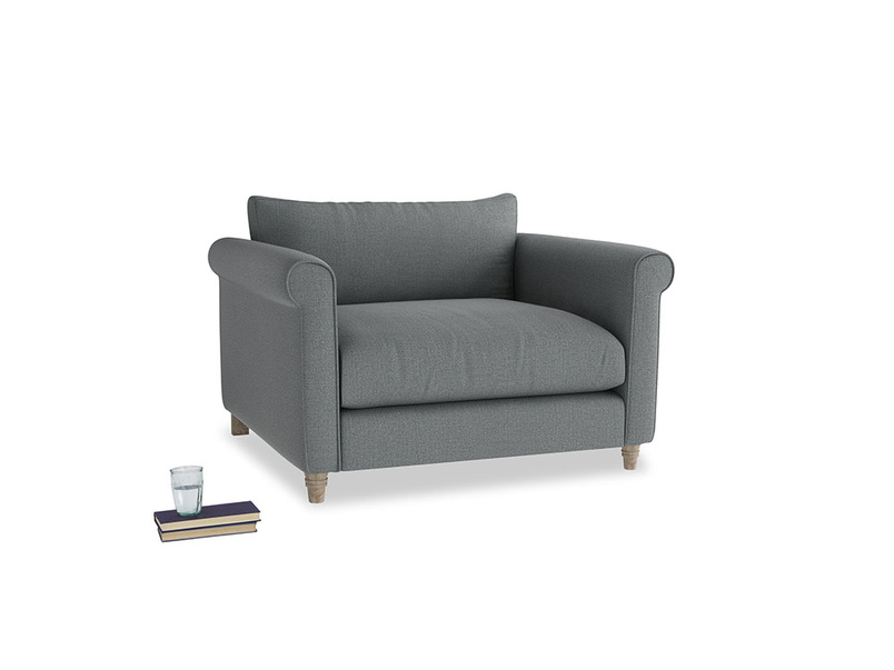 Weekender Love seat in Cornish Grey Bamboo Softie