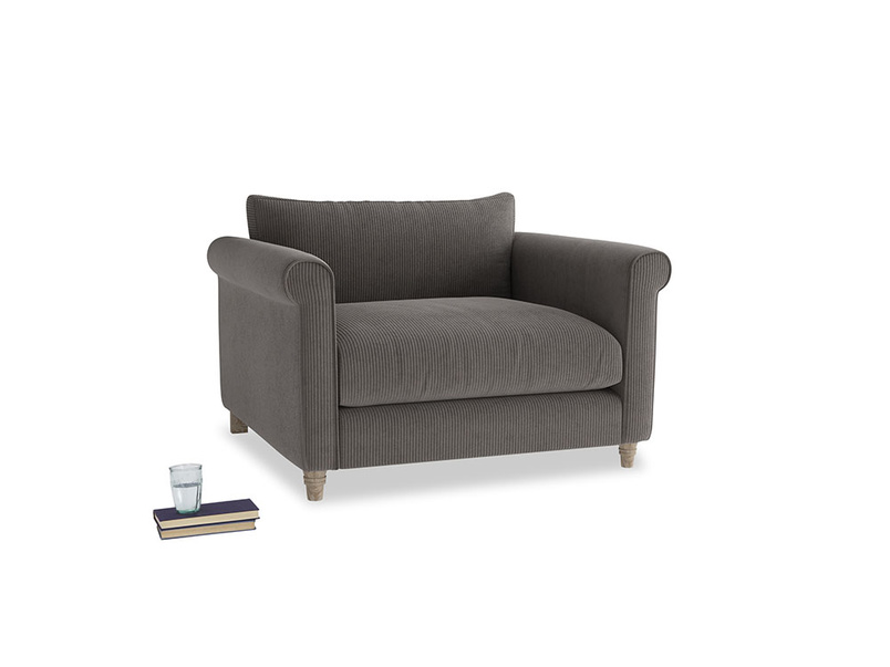 Weekender Love seat in Everyday Grey Clever Cord