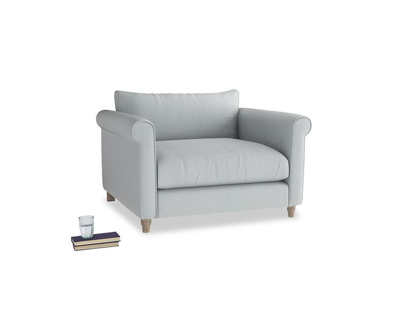 Weekender Love seat in Gull Grey Bamboo Softie
