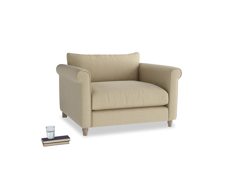 Weekender Love seat in Hopsack Bamboo Softie