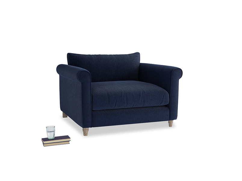 Weekender Love seat in Indian Blue Clever Cord